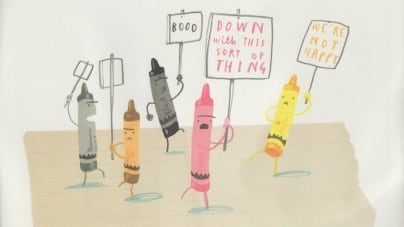 The Day the Crayons Quit: by Drew Daywalt, illustrated by Oliver Jeffers