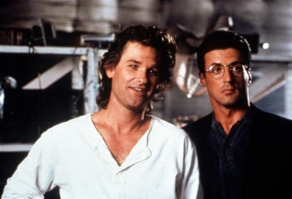Kurt Russell and Sylvester Stallone in Tango & Cash