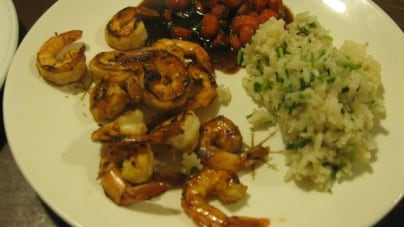 Spectrum Seasonal: Shrimp Marinade, Whiskey-Glazed Carrots and Cilantro Rice