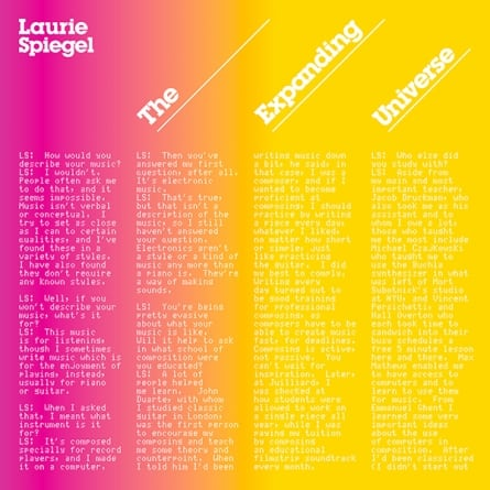 Laurie Spiegel: The Expanding Universe