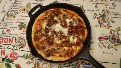 Cast Iron Deep Dish Pizza