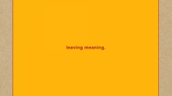Swans: leaving meaning.