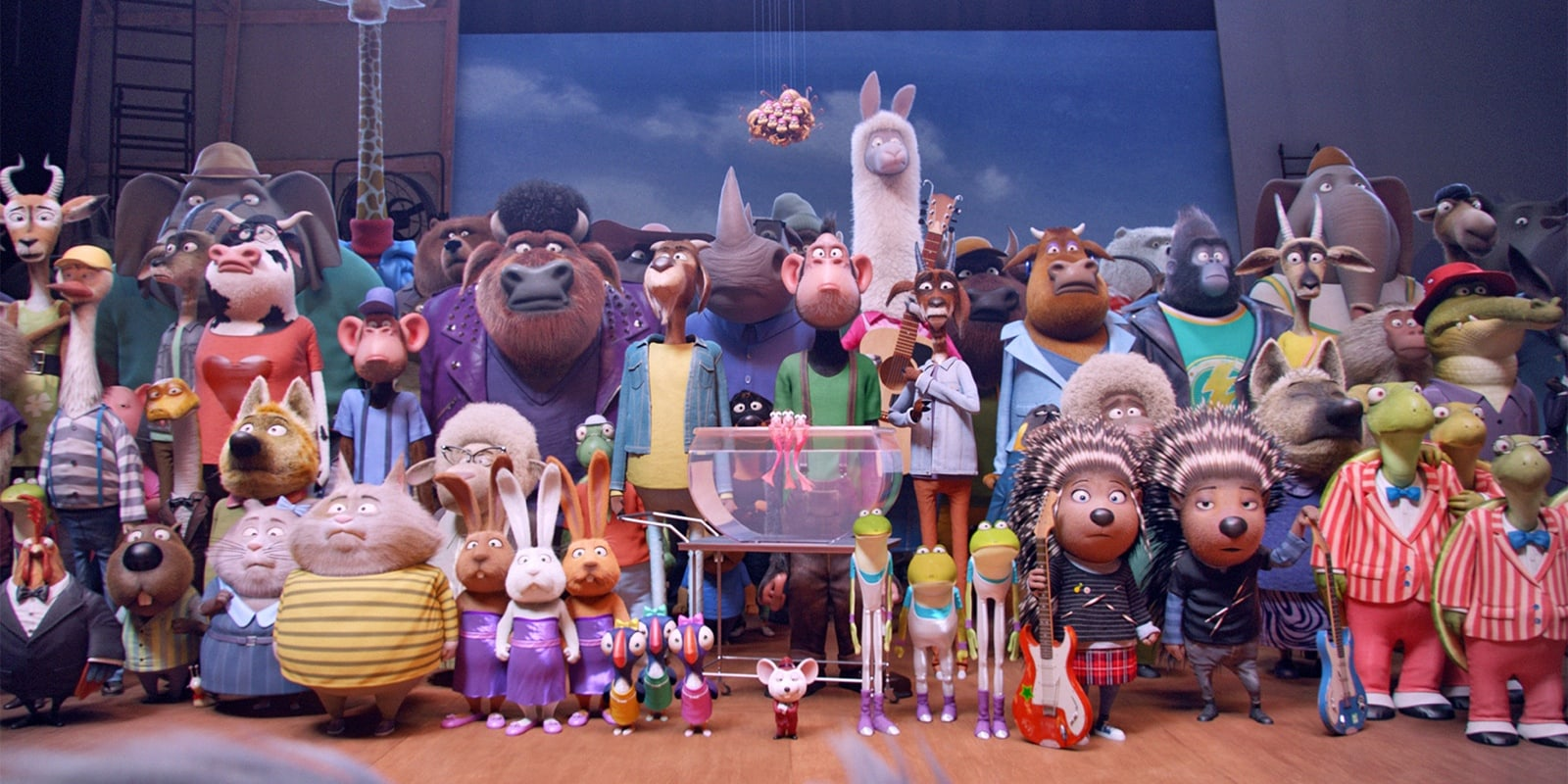 The characters in Sing